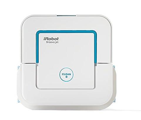 iRobot Braava jet 240 Bodenwischroboter (für Küchen, Badezimmer und andere kleine Bereiche, Reinigt Räume bis zu 25m²) weiß