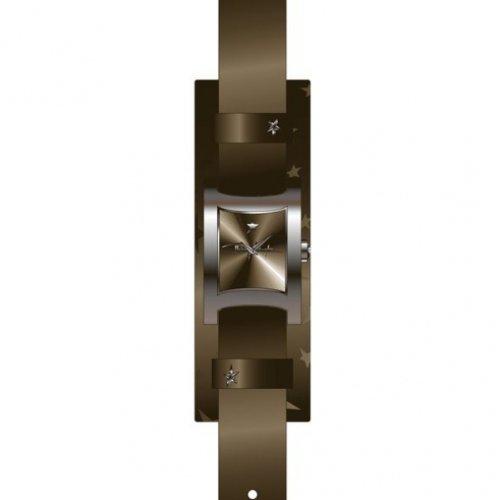 Thierry Mugler 4705304 - Reloj analógico de cuarzo para mujer con correa de piel, color marrón