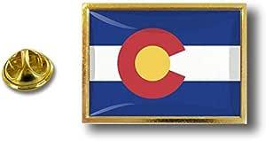 Akacha Spilla Pin pin's Spille spilletta Bandiera Badge USA Americana Colorado