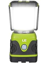 LE Farol de Camping LED 1000lm Regulable, 4 Modos, Linterna Camping, Lámpara para Pesca, Excursión, Jardín, Patio