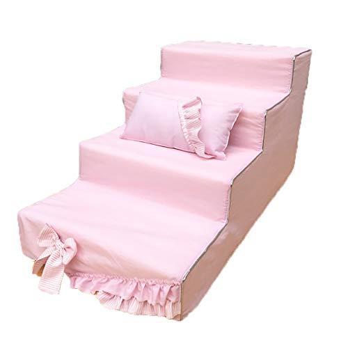 ZCJB Treppenhocker Haustier-Treppen Tritt Mit Waschbarem Reißverschluss Abnehmbarem Polyester-Baumwollbezug Und Rutschfester Unterseite Tritthocker (Farbe : Style3) -