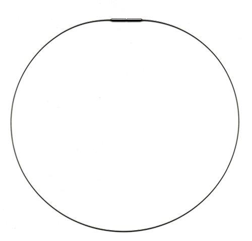 AQT 09.009 Damen Halsreif, 1 reihig, Omega Reif, mit Bajonett Verschluss, aus Edelstahl, Länge (wählbar) 38 cm- 45 cm (40)