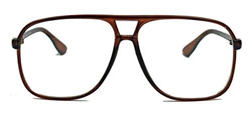 Old School Brille für Damen o Herren oversized rechteckig 80er Jahre Brillengestell als...