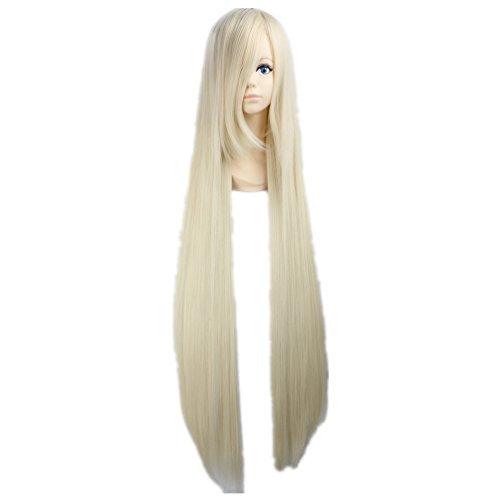 COSPLAZA Cosplay Kostueme Peruecke Chobits Eruda gerade lang 120cm Blond Anime (Chobit Kostüm)