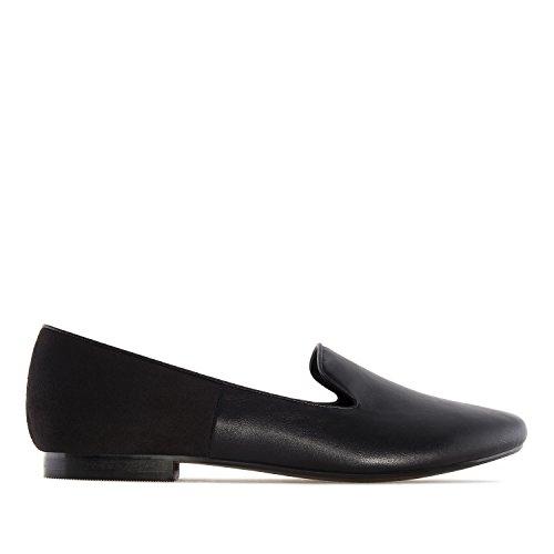 Andres Machado.AM5221.Slippers combinés.Pour femmes. Grandes pointures.42/45 Noir