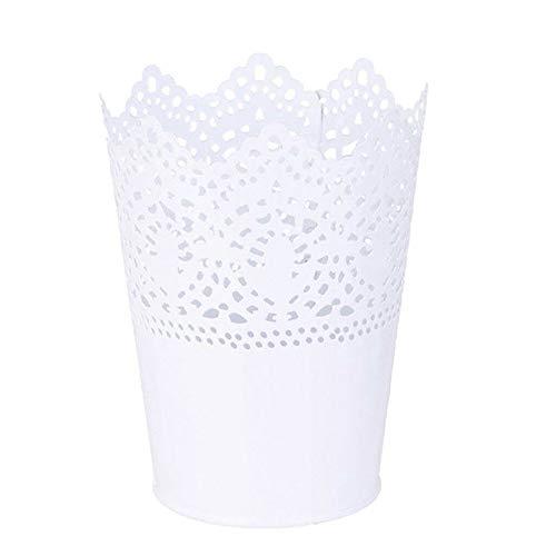DOXMAL Bürobedarf Schmink Pinsel Aufbewahrung, Aufbewahrungsbox Schminke Schreibtisch Organizer Schminktisch Zubehör Blumentopf Vase Deko Schlafzimmer (Weiß) (Weißen Schreibtisch Für Schlafzimmer)