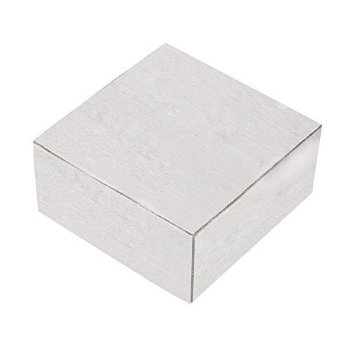Salmue 6,3 * 6,3 * 3 cm Metall Stahl Bank Block, Metall Amboss Quadrat Werkzeug, solide Bank Block für Schmuckherstellung. -
