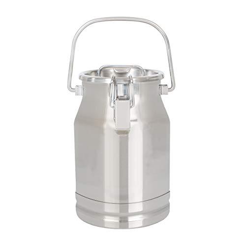 Ellofence Milchkanne 5 Liter - Edelstahl mit Deckel