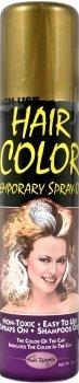 Maskworld Color Hairspray - farbiges Haarspray bunt Colorspray (Gold)