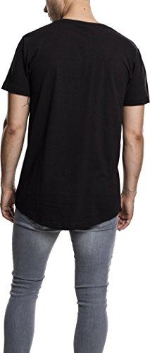Urban Classics Herren T-Shirt Shaped Long Tee Schwarz