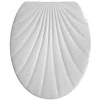 ADOB Duroplast Klobrille 14839 Toilet Seat with Shell Design, Calypso