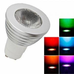 OSSUN Lot de 4 x GU10 4W Dimmable 12 couleurs changeantes Ampoule LED RGB avec télécommande Magic Lighting Éclairage de la maison
