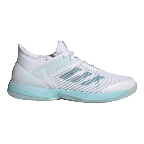 adidas Damen Adizero Ubersonic 3w X Parley Fitnessschuhe, Mehrfarbig (Espazu Ftwbla 000), 39 1/3 EU (Damenschuhe Adidas Tennis)