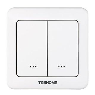 TKB Home Dimmereinsatz mit 2-Facher Wippe, 1 Stück, TKBETZ35-D