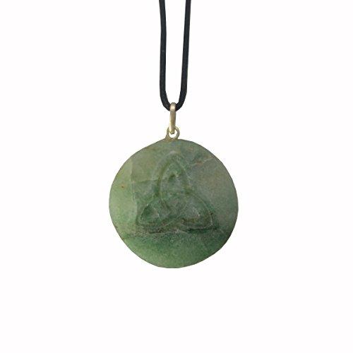 Heilsteinkette grüner Jade 486