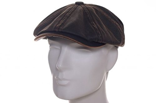 hatteras-old-cotton-newsboy-cap-stetson-newsboy-cap-berretti-oilskin-l-58-59-marrone