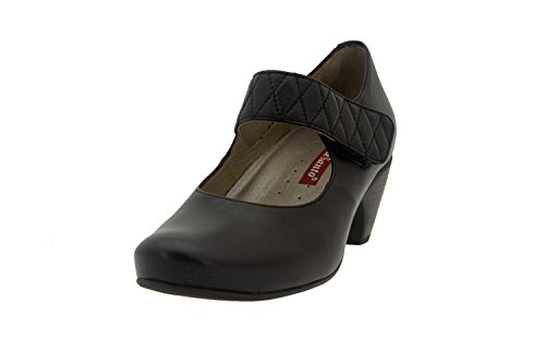 Chaussures femme en cuir Confortable Piesanto 7404Mary Jean Urban Casual Large Confort Chaussures Marron - Marron caoba
