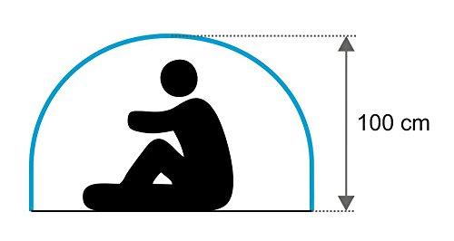 CampFeuer - Sekundenzelt, Wurfzelt 2 Personen - Quicktent - Blau -