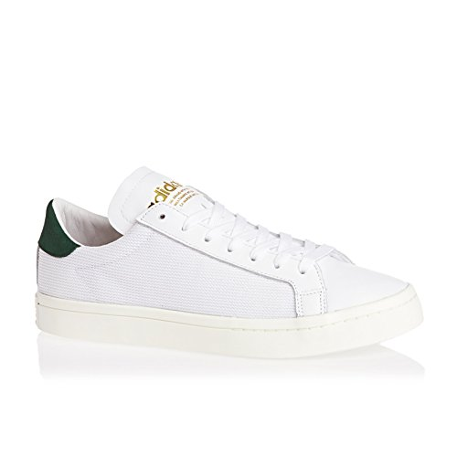 adidas Court Vantage White White Green Ftwwht and Cgreen