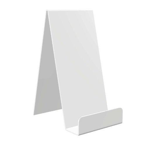 Displaypro 10x extra grande blanco acrílico función atril, para sujetar libros, teléfonos, hondos y más.–envío gratuito.