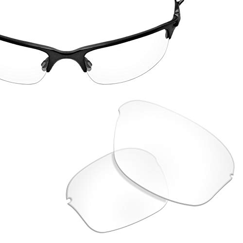 Ersatzgläser für Oakley Half Wire 2.0 (1,8 mm dick) UV400, Elfenbein (Hi-def Clear), Einheitsgröße