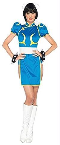 Street Fighter Chun Li Med Lg (Street Fighter Chun Li Kostüm)