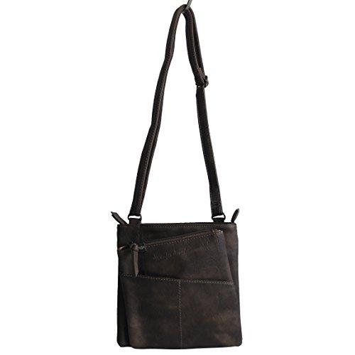 Jennifer Jones - kleine - schicke Damen Handtasche Clutch Umhängetasche Abendtasche Ausgehtasche Schultertasche ( Taupe ) - präsentiert von ZMOKA® -