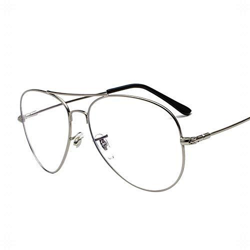 WULE-RYP Polarisierte Sonnenbrille mit UV-Schutz Ultraleichte Metall-Anti-Blue-Light-Brille für Damen. Superleichtes Rahmen-Fischen, das Golf fährt (Farbe : Silver)
