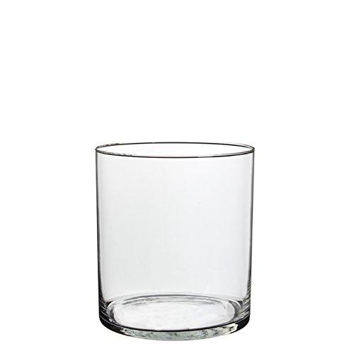 MICA Decorations Cilla Vase, Glas, transparent, Höhe 22 cm D 19 cm