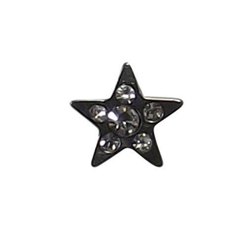 INKgrafiX® Dermal Anchor Aufsatz Microdermal STERN 5mm - Steine - Stahl 316l - IG30085