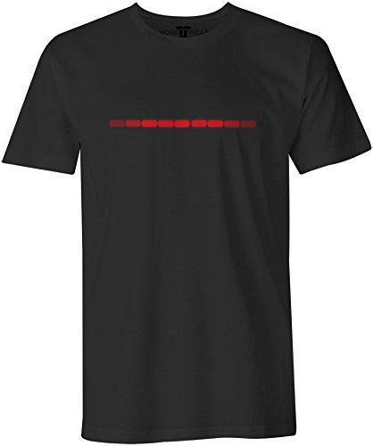 Kitt Stripe - Herren Knight Rider 1980's Action Abenteuer Serie T Shirt (Abenteuer-film T-shirts)