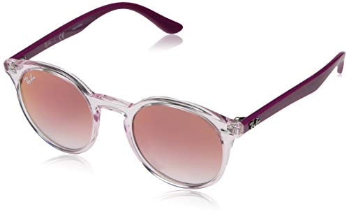 Ray-ban 0rj9064s occhiali da sole, marrone (transparente pink), 44.0 unisex-adulto