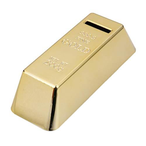 Oulensy La Novedad plástica lingote Oro Hucha Monedas