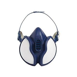 3M Atemschutzmaske 4251C1 - Gebrauchsfertige Halbmaske mit Schutzstufe A1P2 für Farbspritz- & Maschinenschleifarbeiten - 1 x 3M Maske mit integriertem Filter