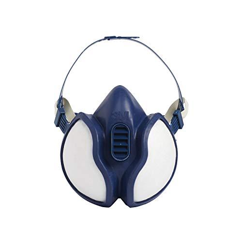 3M Respiratore per Gas e Vapori a Semimaschera 4251C, Maschera Protettiva con Filtri Antigas e Antipolvere, Bianco, Certificato EN Sicurezza, 1 Pezzo
