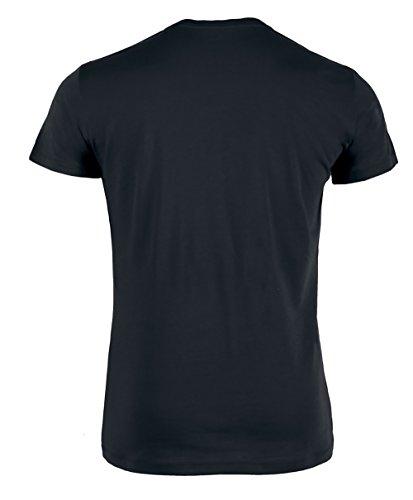 Herren T-Shirt aus Bio-Baumwolle mit Rundhalsausschnitt, Herren Bio Shirt Schwarz und Weiß, Klassisches T-Shirt aus Bio-Baumwolle mit Rundhals, T-Shirt auch in Mehrfachpacks Schwarz