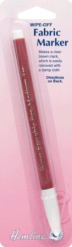 hemline-h295br-marrone-medio-punta-da-pulire-pennarello-per-stoffa-lavabile-o-rimovibile-con-un-pann