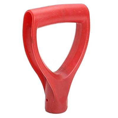 mxdmai Ersatz Griff für Schneeschaufeln Kunststoff D-Griff für ergonomischen Halt und optimale Kraftübertragung, Gartenarbeit Zubehör