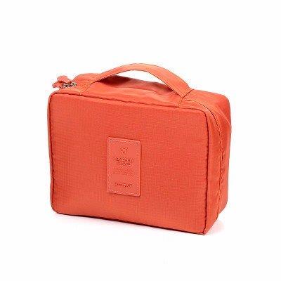 Tutoy impermeabile multifunzione oxford panno borsa compatta trucco custodia custodia bagno mesh organizer-arancio