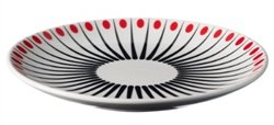 Superliving Amanda Plate White/Tomato