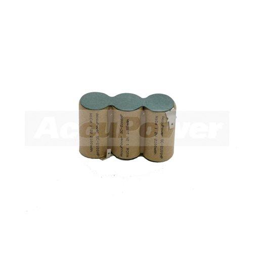 AccuPower batterie adapté pour Gardena ACCU60, Faston -2,8 / + 4,8, 2Ah