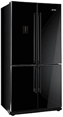 smeg fq60npe frigo am ricain autonome noir porte fran aise a led sn t. Black Bedroom Furniture Sets. Home Design Ideas