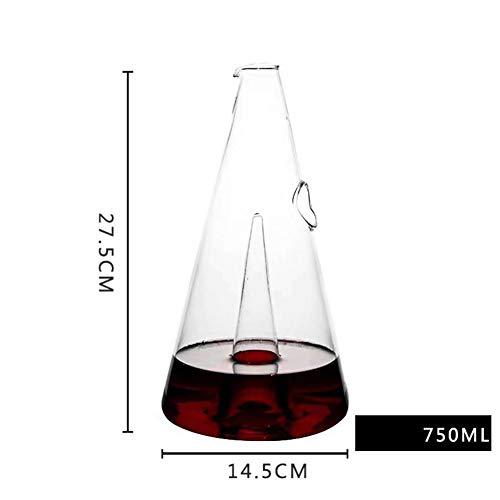 HUBi Decanter È Senza Piombo, Sofisticato 500ML Diamante Decanter con Starburst Detailing per Whisky, Bourbon, Scotch & Liquor,B