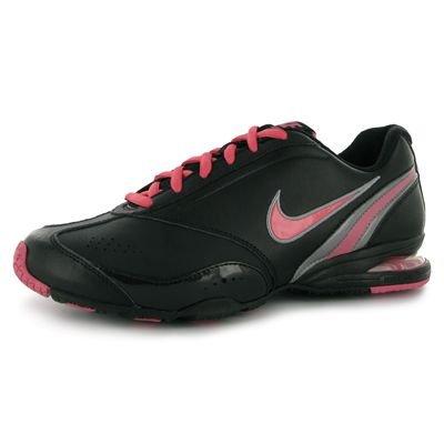 Nike Scarpa Donna Sneakers Air Visi Fly Lea 407850 007 Nero-Fuxia