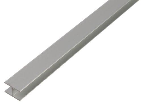 GAH-Alberts 485627 H-Profil - speziell für 16 mm starke Spanplatten, Aluminium, silberfarbig eloxiert, 1000 x 19 x 30 mm