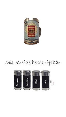 Kaffeepaddose 18 Pads - Neu beschriftbar mit Kreide 4er Set + NEU Osteraktion mit...