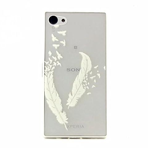 MOTOUREN Coque Housse pour Sony Xperia Z5 Compact/Z5 Mini Transparente Cute Motif Premium TPU Souple Etui de Protection [absorbant les chocs] [Ultra mince] [Anti-rayures] - printemps