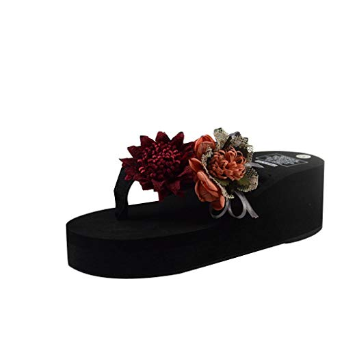 Infradito Donna Pantofole con Zeppa Comodo Infradito Boemia Bagno di Casa Infradito di Kinlene