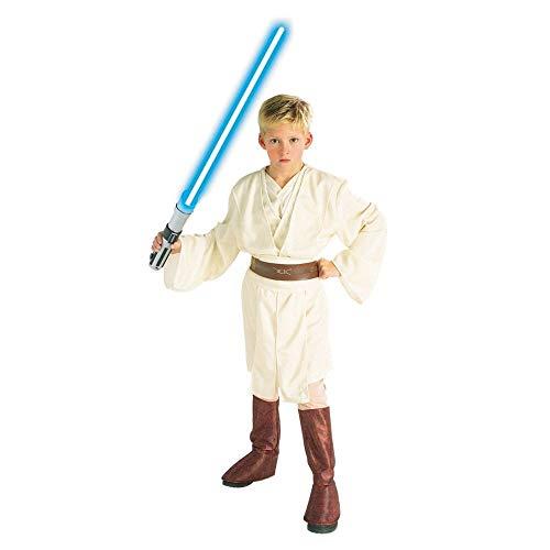 Wan Deluxe Kenobi Kostüm Obi - Star Wars Deluxe Obi-Wan Kenobi Kostüm Kinderkostüm Größe:L (ca. 140/152)