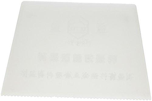 Weiß Kunststoff Trapez noched Paint Kuchen Decorator Scraper 13cm lang (Kuchen Maler)